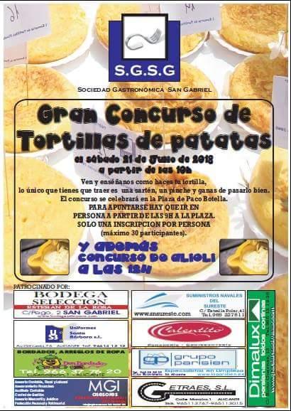 Toldos Dimalux Alicante patrocina el Gran Concurso de Tortillas de patatas de la Sociedad Gastronómica San Gabriel