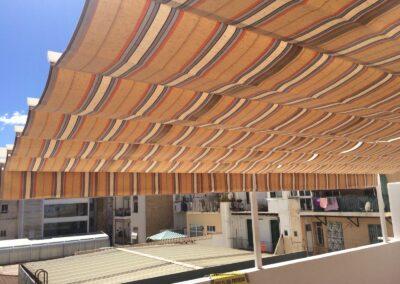 Toldo terraza corredero palillero en Alicante