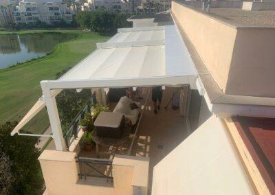 Instalación de pérgola Tenxo en el campo de golf de Playa San Juan (Alicante)